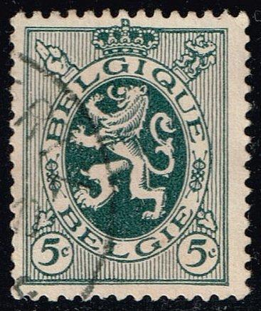 Belgium #201 Heraldic Lion; Used (0.25) (2Stars) |BEL0201-09XRS