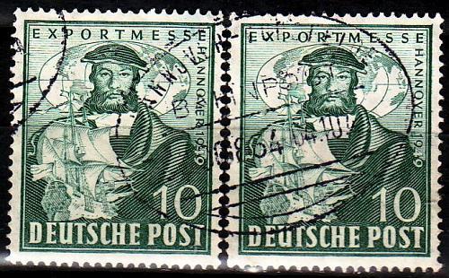 GERMANY Alliiert AmBri [1949] MiNr 0103 ( O/used ) [01] Bahnpost