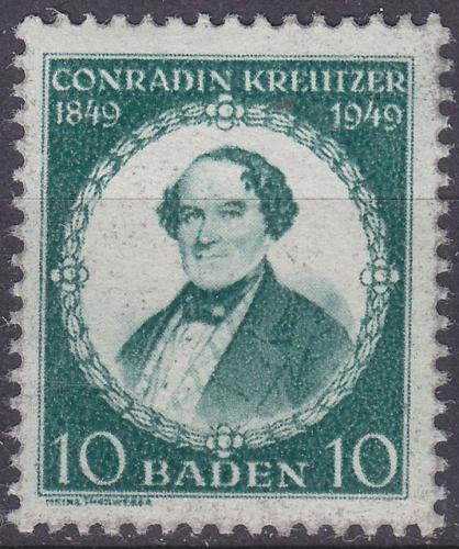 GERMANY Alliiert Franz. Zone [Baden] MiNr 0053 II ( **/mnh )