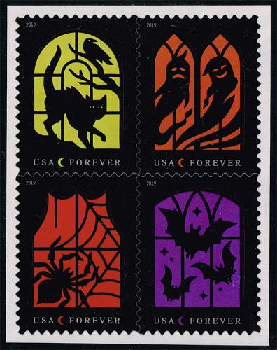 US #5423a Spooky Silhouettes Block of 4; MNH (5Stars) |USA5423a-03