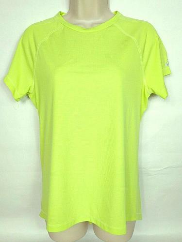 Asics Women's Active Athletic T-Shirt Medium Solid Yellow Short Sleeve