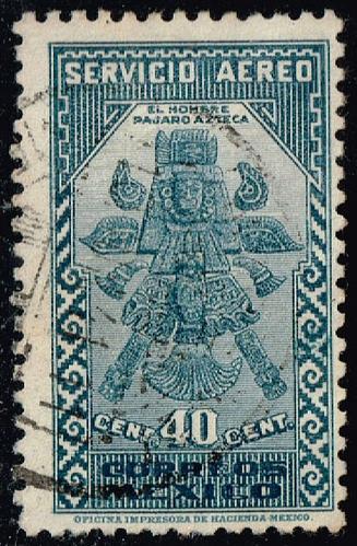 Mexico #C70 Aztec Birdman; Used (2Stars) |MEXC070-01XRS