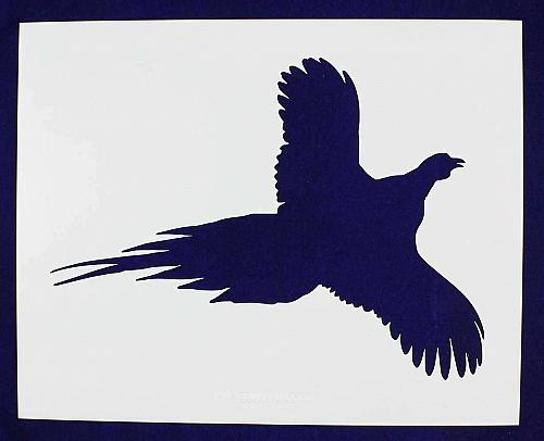 Large Flying Pheasant Stencil -1 pc-Mylar 14mil - Painting /Crafts/ Templates