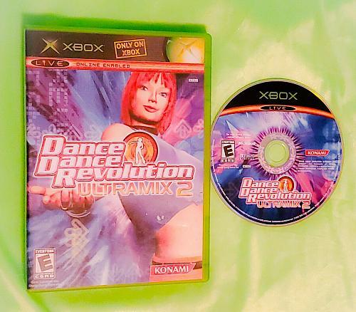 XBOX DANCE DANCE REVOLUTION ULTRAMIX 2 VIDEO GAME DISC ORIGINAL CASE