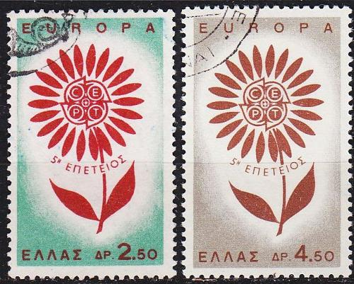 GRIECHENLAND GREECE [1964] MiNr 0858-59 ( O/used ) CEPT