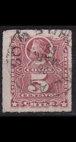 CHILE [1878] MiNr 0020 ( O/used )