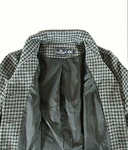 AMERICAN LIVING womens Medium L/S gray black WOOL blend button down jacket (B3)P