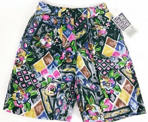 Andrews Sports Studio Women's Shorts Small Casual Abstract Floral NWT