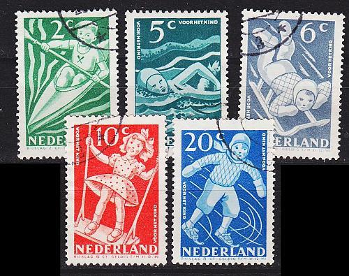 NIEDERLANDE NETHERLANDS [1948] MiNr 0511-15 ( O/used )