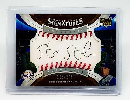 MLB STEVE' STEMLE ROYALS AUTOGRAPHED 2000 6 UPPER DECK SWEET SPOT 275