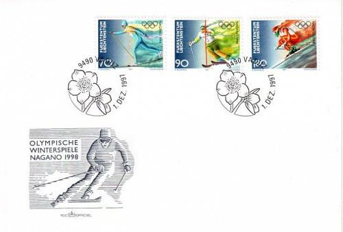LIECHTENSTEIN [1997] MiNr 1162-64 ( FDC ) Olympiade