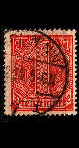 GERMANY REICH Dienst [1920] MiNr 0022 ( O/used )