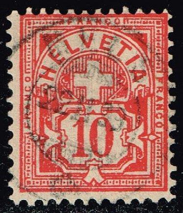 Switzerland #73 Numeral; Used (0.80) (2Stars) |SWI0073-07XRS