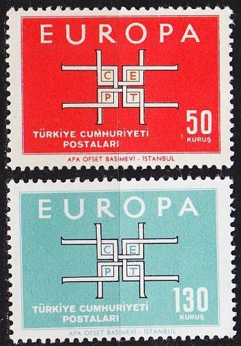 TÜRKEI TURKEY [1963] MiNr 1888-89 ( **/mnh ) CEPT