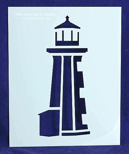 """Lighthouse/Sailboat Stencils Mylar 2 Pieces of 14 Mil 8"""" X 10"""" - Painting /Craft"""