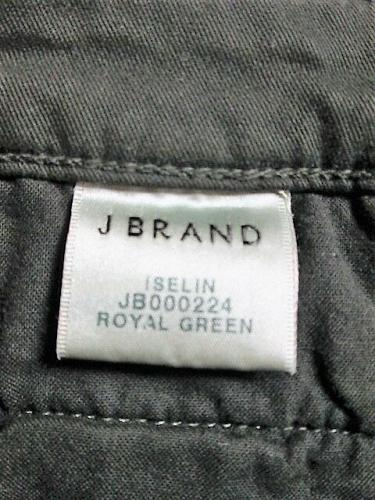 J BRAND womens W28 L27 ISELIN ROYAL GREEN ZIP SKINNY CORDUROY PANTS NWT (U)P