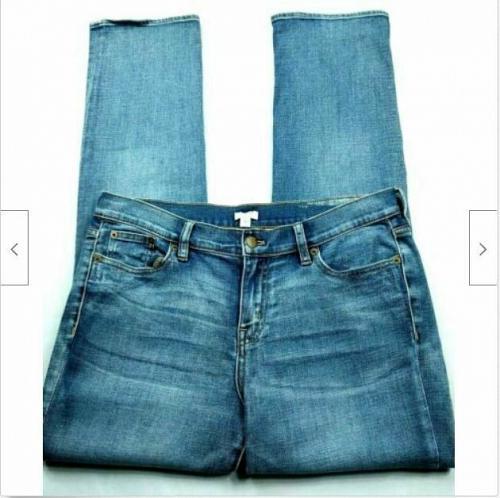 J Crew Colorado Boyfriend Straight Leg Jeans Size 28 Distressed Stretch