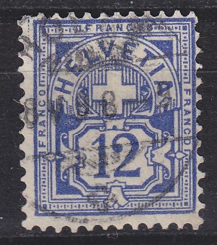 SCHWEIZ SWITZERLAND [1882] MiNr 0055 Y a ( O/used )