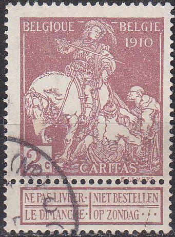 BELGIEN BELGIUM [1910] MiNr 0086 I ( O/used )