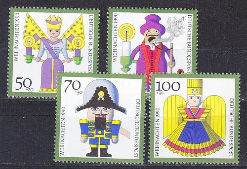 GERMANY BUND [1990] MiNr 1484-87 ( **/mnh ) Weihnachten