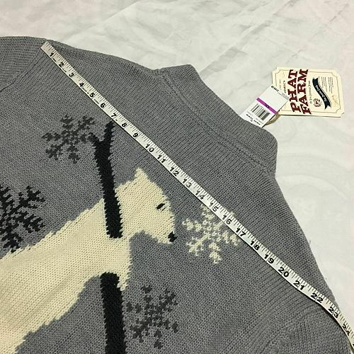 PATH FARM NWT $160 Wool Sweater front zipper Gray Men Size XXL