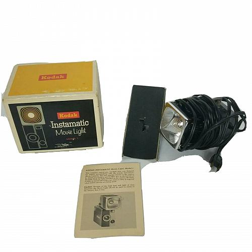 Vintage Kodak Instamatic Movie Light Model 1 Original Box Tested Working