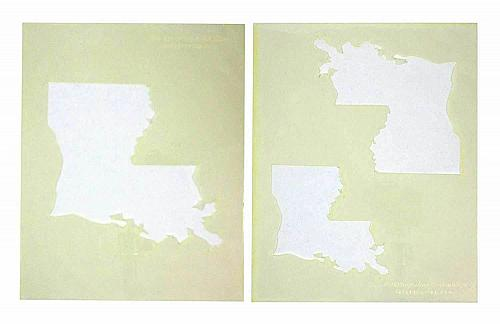 """State of Louisiana 2 pc Stencil Set-Mylar 14 Mil 4"""",5', 6"""" - Painting /Crafts/ T"""