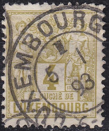 LUXEMBURG LUXEMBOURG [1882] MiNr 0047 D ( O/used )