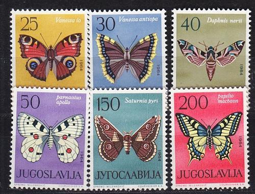 JUGOSLAVIA [1964] MiNr 1069-74 ( **/mnh ) Schmetterlinge