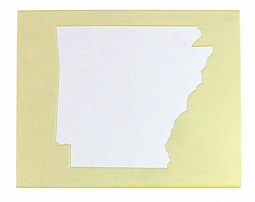 """State of Arkansas Stencil 14 Mil 8"""" X 10"""" Painting /Crafts/ Templates"""