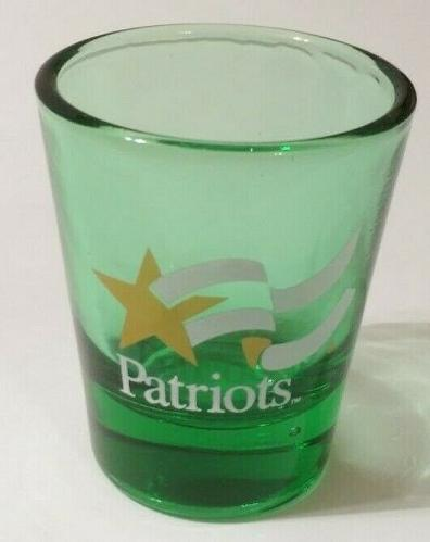 """Patriots 2.25"""" Green Collectible Shot Glass"""