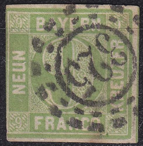 GERMANY Bayern Bavaria [1850] MiNr 0005 I d ( O/used ) [01]