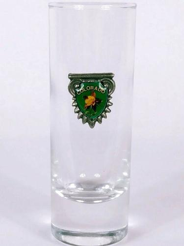 "Colorado Emblem Flower 4"" Collectible Shooter Shot Glass"