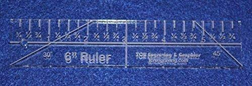 """6"""" Ruler - 1/4"""" thick. Quilting/Sewing Clear Acrylic - Quilting/sewing"""