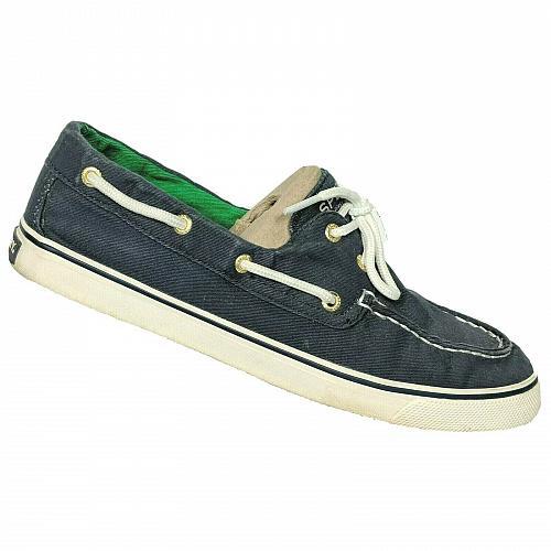 Sperry Top Sider Womens Biscayne Navy Blue Saltwash Boat Deck Shoes Size 8.5 M