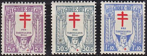 BELGIEN BELGIUM [1925] MiNr 0204-06 ( */mh )