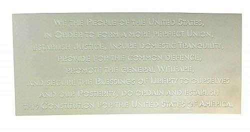Preamble of Constitution -USA -1 Piece Stencil Painting /Crafts/ Templates