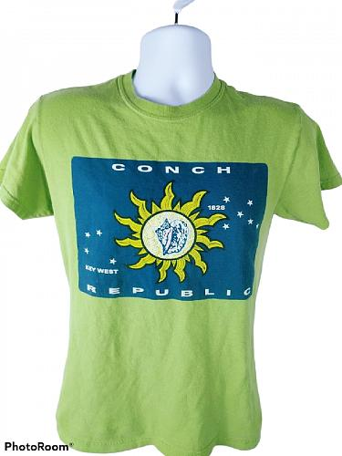 Conch Republic Key West Florida Boy's Graphic Short Sleeve T-Shirt Size Small