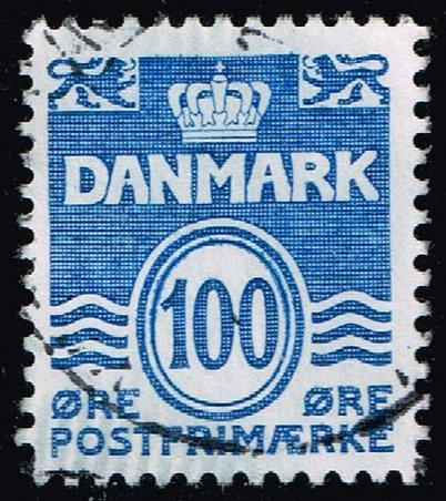 Denmark #691 Wavy Lines; Used (3Stars)  DEN0691-01XBC