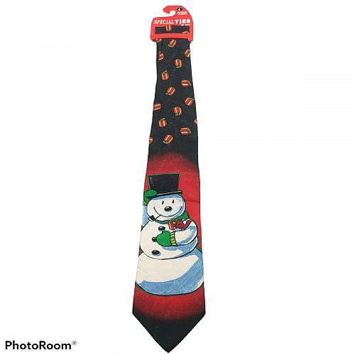 NWT Hallmark Snowman Christmas Presents Novelty Necktie
