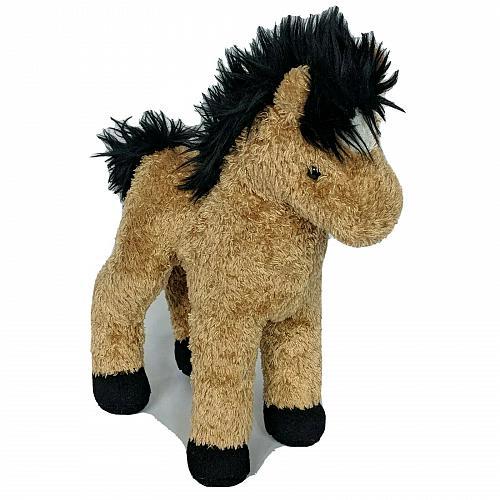 "Douglas Cuddle Toy Brown Black Horse Farm Barnyard Plush Stuffed Animal 10.5"""