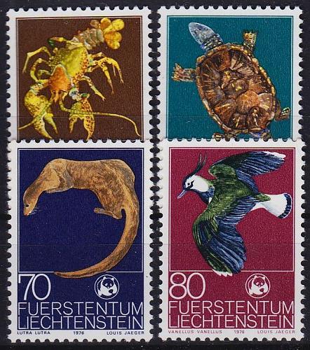 LIECHTENSTEIN [1976] MiNr 0644-47 ( **/mnh ) Tiere