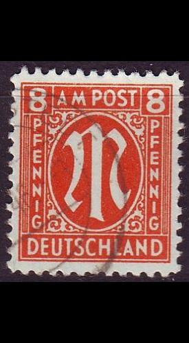 GERMANY Alliiert AmBri [1945] MiNr 0021 D ( O/used )