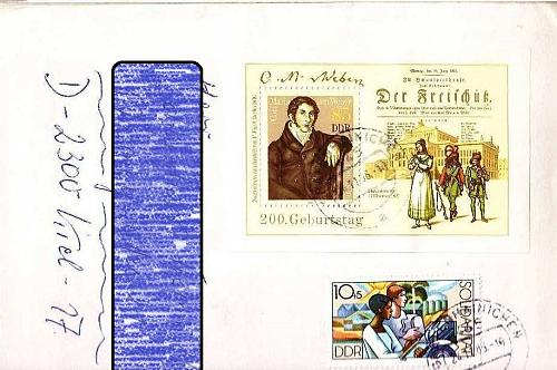 GERMANY DDR [1986] MiNr 3055 Block 86 ( Brief )
