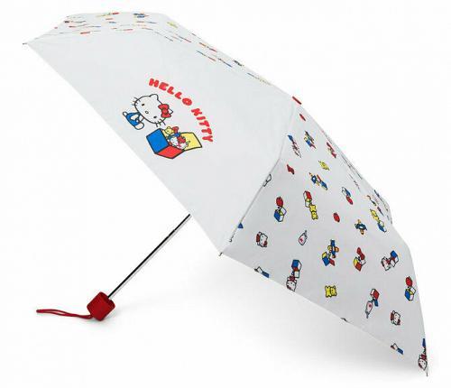 New Sanrio HELLO KITTY 45TH ANNIVERSARY UV UMBRELLA and Bag set Free Shipping
