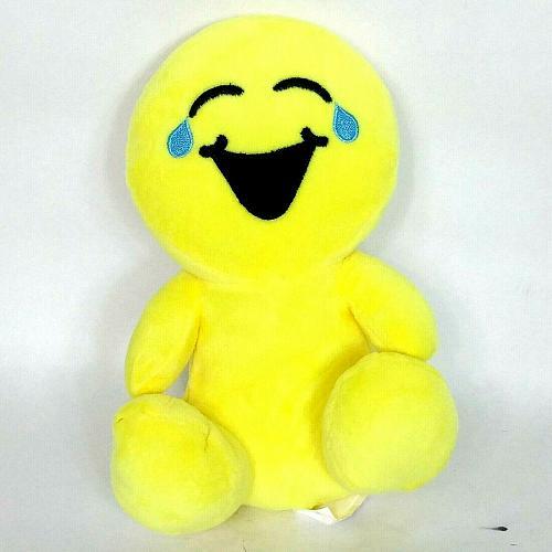 "BMI Bonita Marie International Yellow Emoji Smiley Face Plush 2017 8.5"""