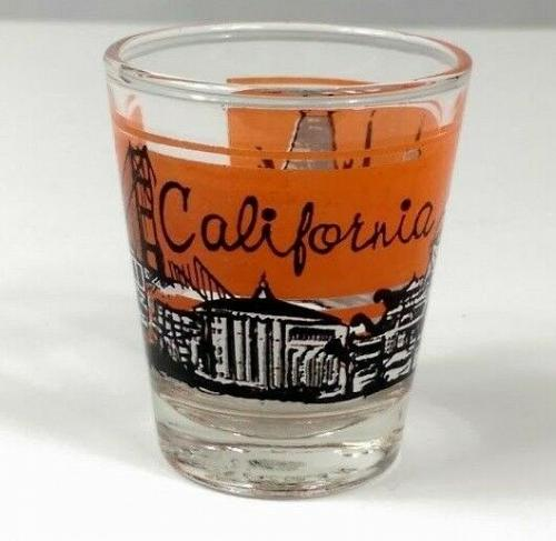 "California Skyline Golden Gate Bridge 2.25"" Collectible Shot Glass"