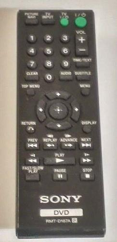 Sony DVD RMT-D187A Remote Control