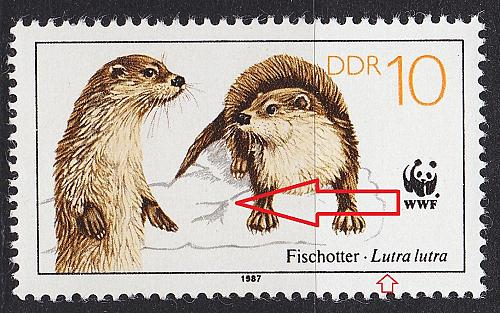 GERMANY DDR [1987] MiNr 3107 I ( **/mnh ) Tiere Plattenfehler
