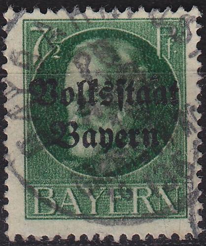 GERMANY Bayern Bavaria [1919] MiNr 0118 A ( O/used )